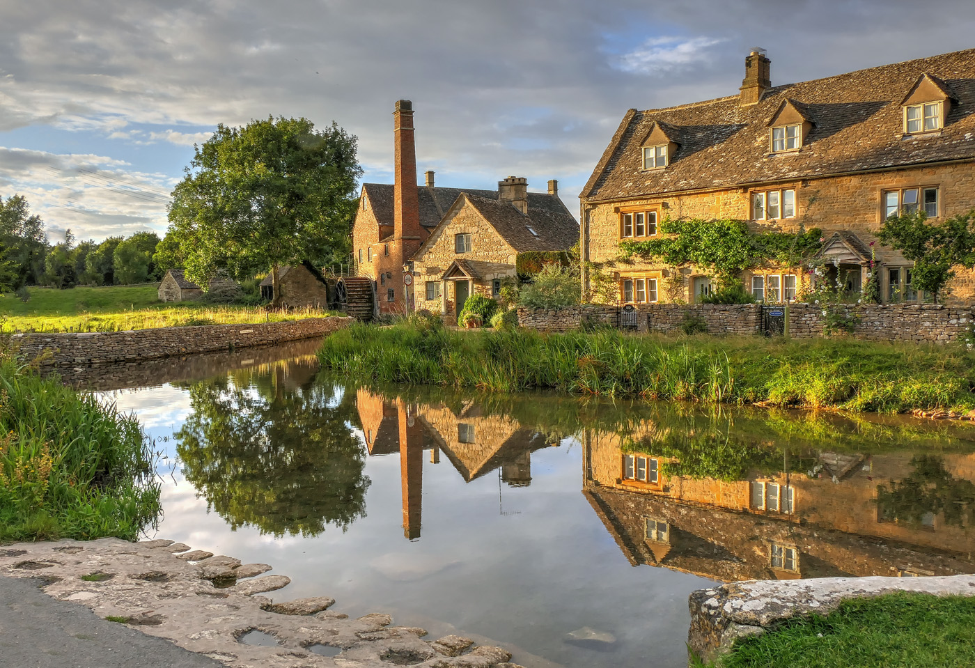 Evening at Lower Slaughter-Barbara Gibbons