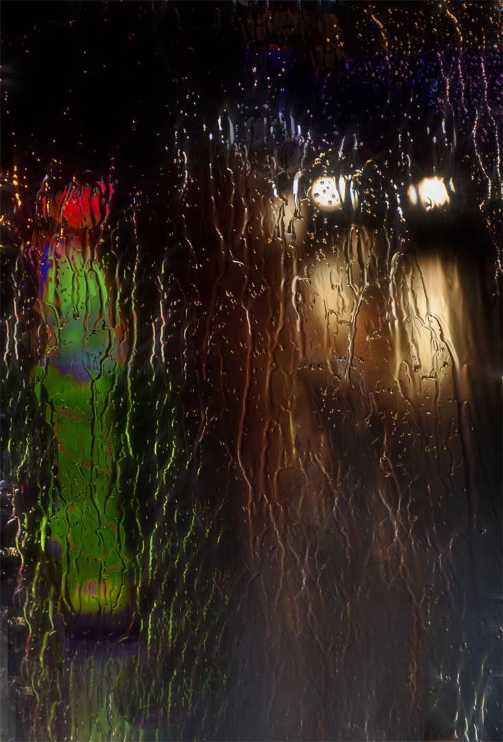 1st - 20 Points - Wet night roadworks -Jenny Fryer LRPS